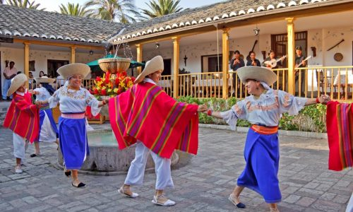 traditional dance in hacienda chorlavi haciendas