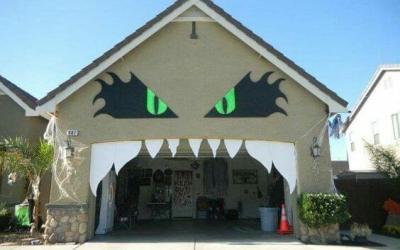 Halloween Garage Door  Decor