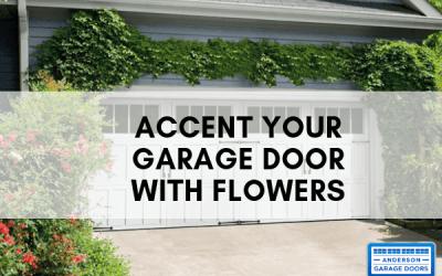 Accent Your Garage Door With Flowers