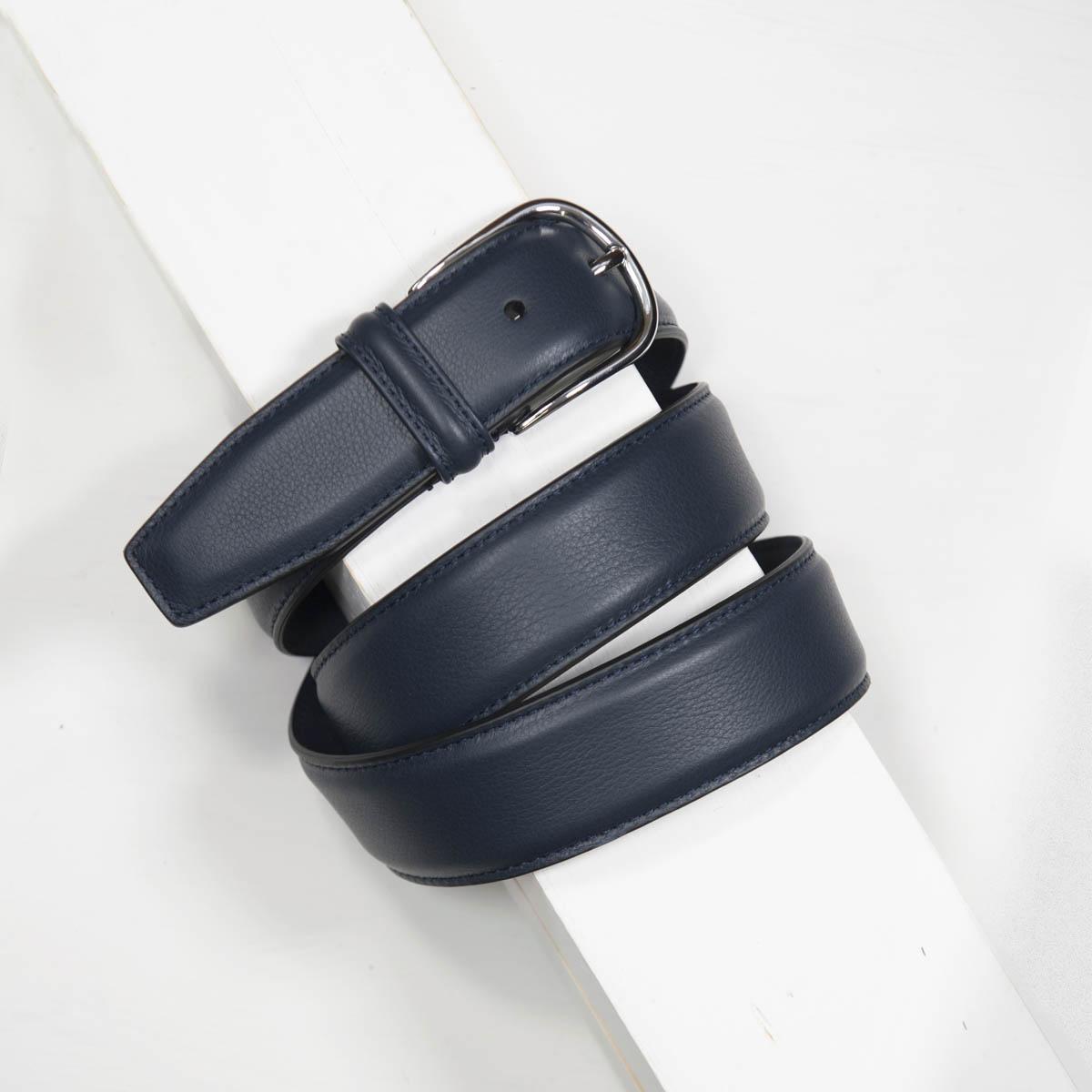 3,5 cm CLASSIC NAVY STITCHED NAPPA BELT