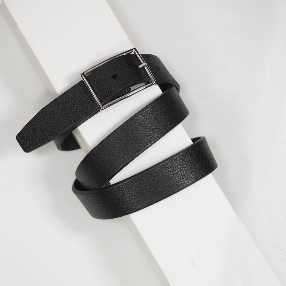3,0 cm REVERSIBLE GRAINED LEATHER CALF BELT