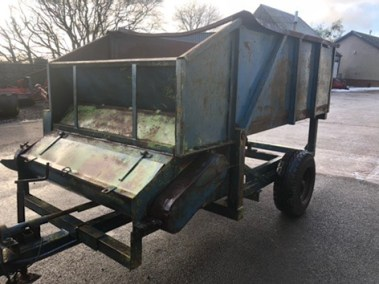 Boswell root chopping cart