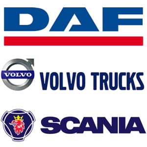 Daf, Volvo and Scania Truck Logos