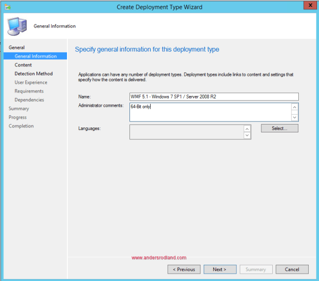 Deploy Windows Management Framework with SCCM - Step 4