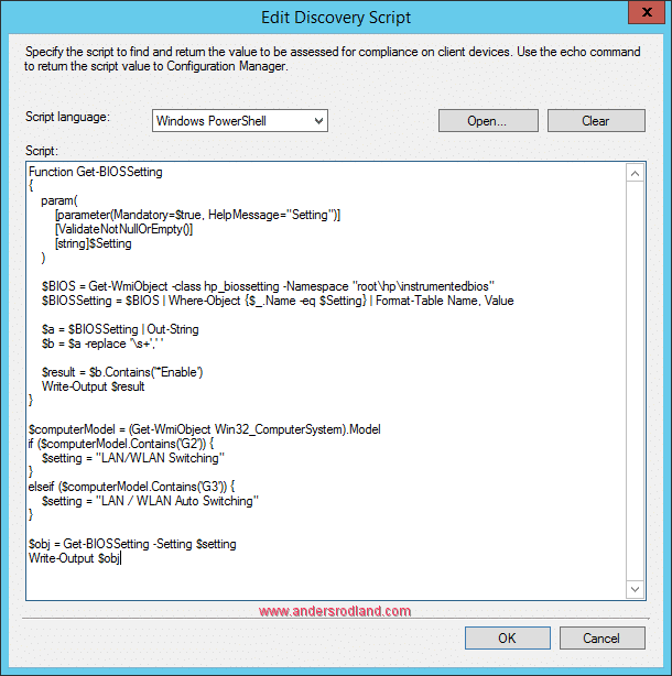 Manage BIOS Settings with SCCM Compliance Settings -4
