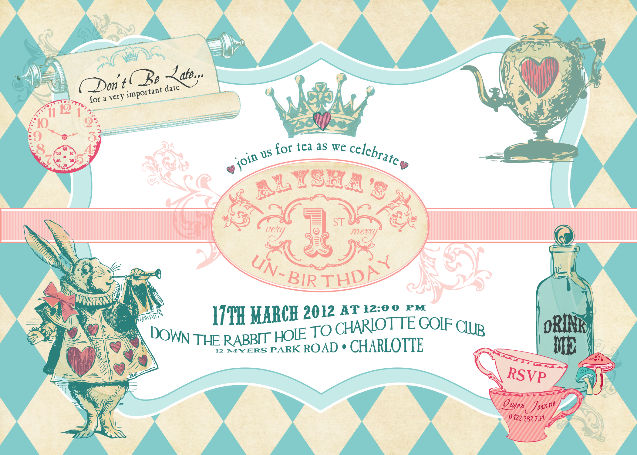 New Alice In Wonderland Inspired Invitation Amp Collection