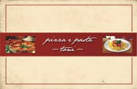 Pizza e Pasta Toni Visitenkarten - Vorn