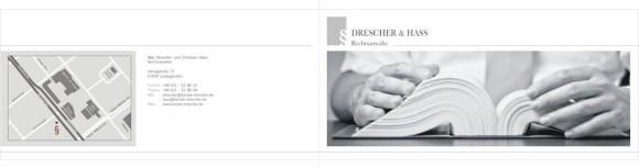 Rechtsanwaltskanzlei Drescher & Hass Flyer Außen