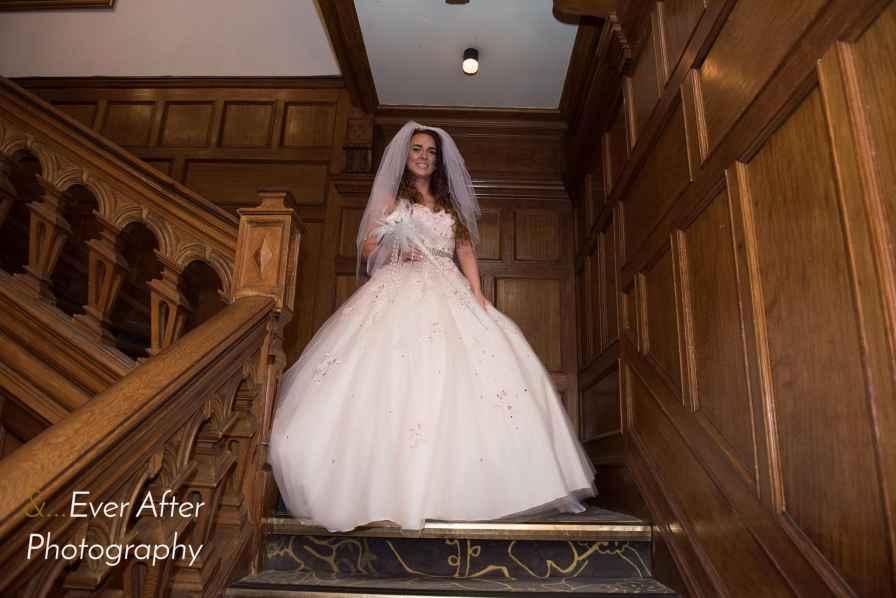 bride, wedding day, wedding dress