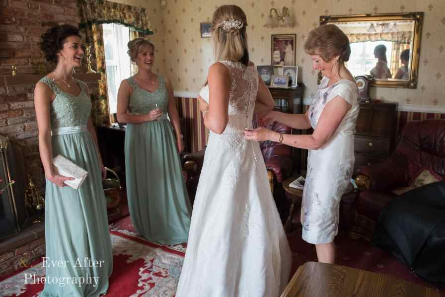 bridal preparations, wedding dress, mother of the bride