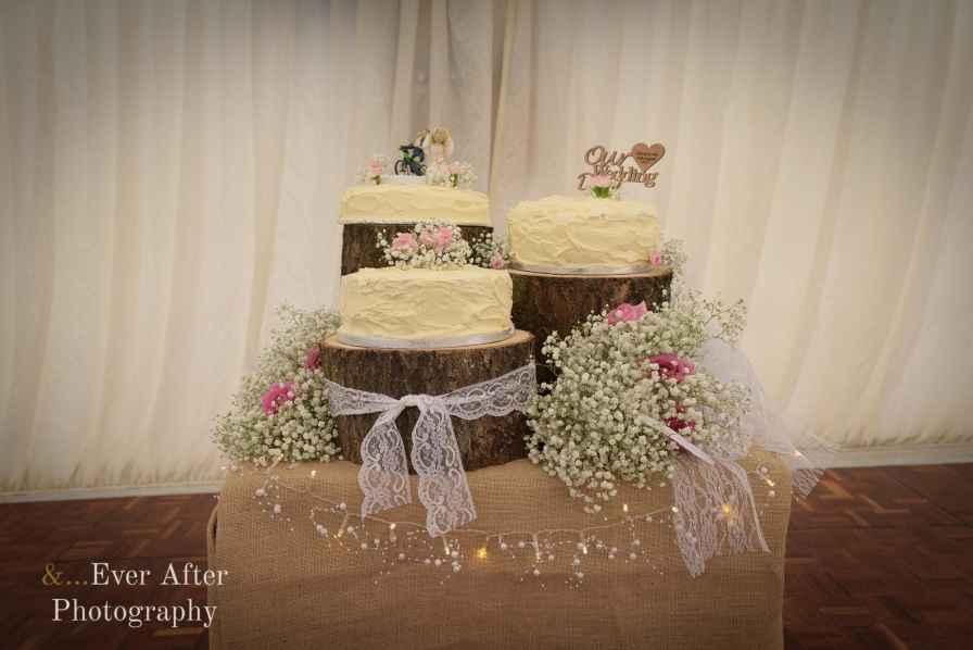 wedding cake, cake topper, rustic cake display
