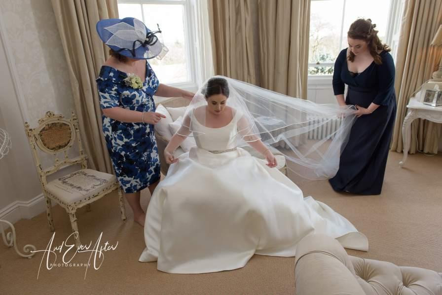 Wedding veil, bride, mother of the bride