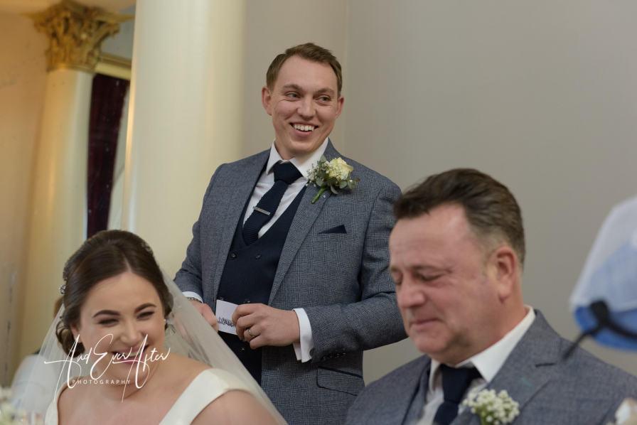 wedding day speech, groom, lartington Hall