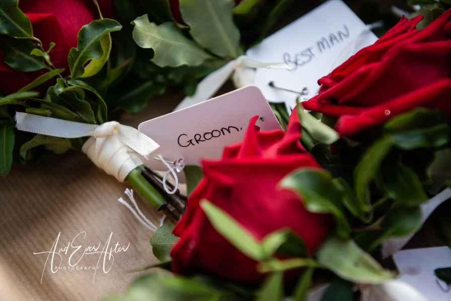 Wedding flowers, groom buttonhole