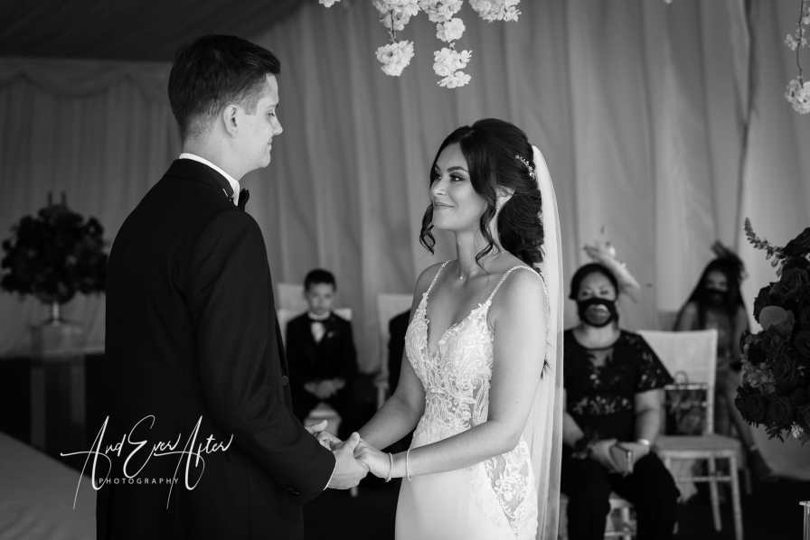 Wedding photography, the black horse at beamish wedding, bride and groom, Wedding ceremony