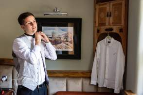 Groom getting ready for his wedding day