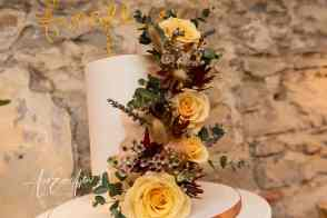 wedding cake in the fig house at Middleton Lodge