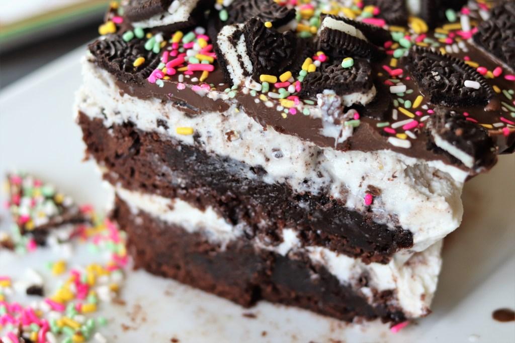 Cookies 'n Cream Brownie Ice Cream Cake