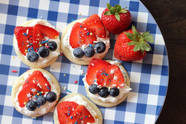 Festive Fruit Pizza Cookies