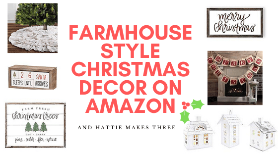Farmhouse Style Christmas Decor on Amazon