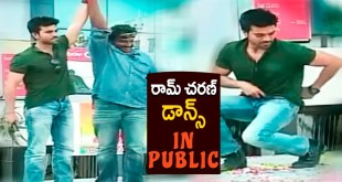 Watch : Ram Charan mesmerizing Dance on the top of a Bus along with VV Vinayak