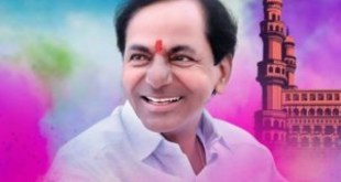 KCR creates sensation with Hindi?