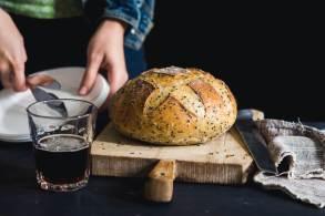 paine cu bere bruna