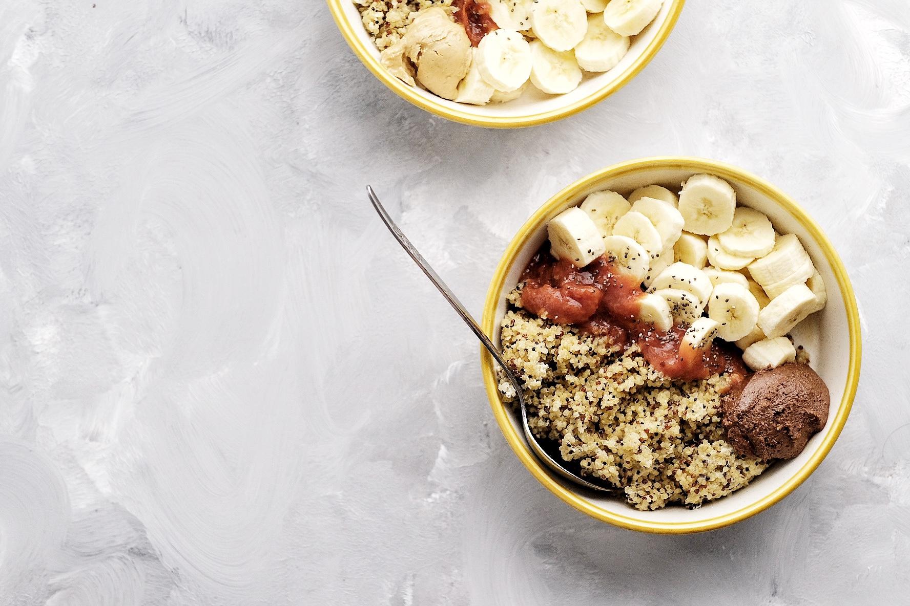 Mic dejun cu quinoa si banane