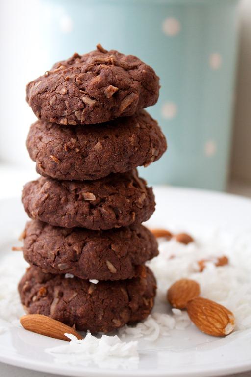 Dark Chocolate Almond Joy Cookies Andie Mitchell