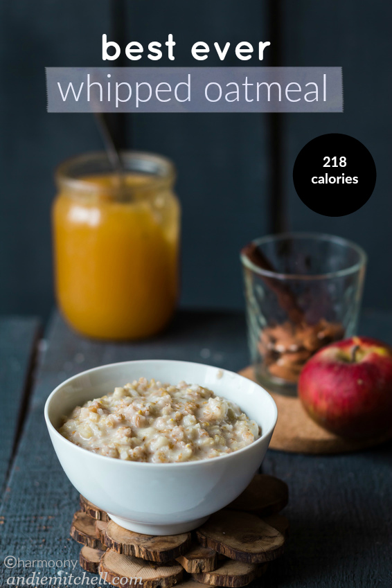 whipped oatmeal made with egg whites