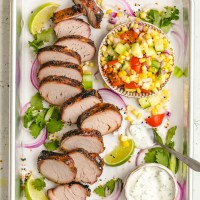 Grilled Pork Tenderloin with BBQ Dry Rub