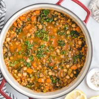 Vegetarian Lentil and Chickpea Soup