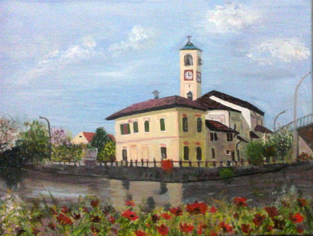 S.Antonio Abate Church, Abbiategrasso - Acryilic on canvas by Andipainting