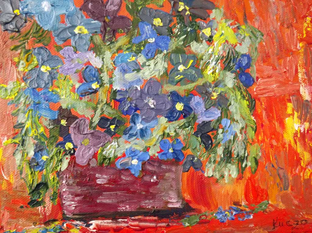Flowers - Acryilic on canvas by Andipainting