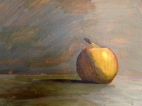 Still life with apple