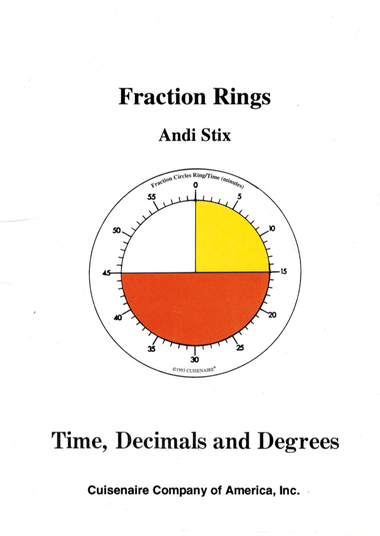 Fraction Rings Teaching Time Decimals And Degrees