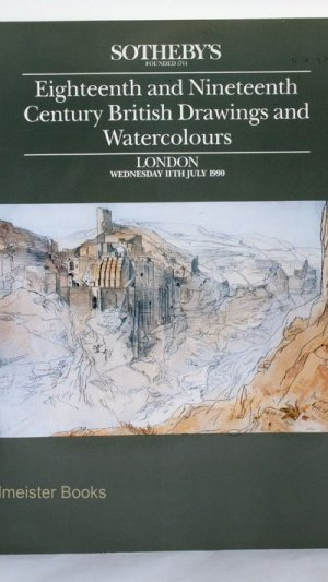 Eighteenth and Nineteenth Century British Drawings and Watercolours