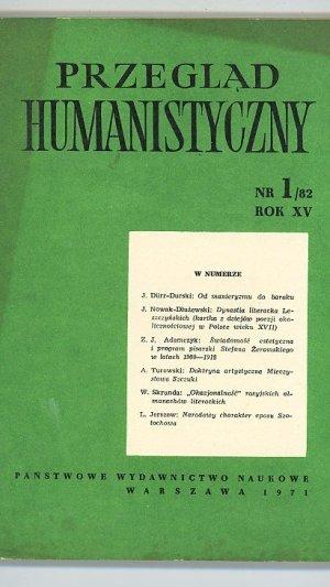 Przeglad Humanistyczny NR1/82 ROK XV