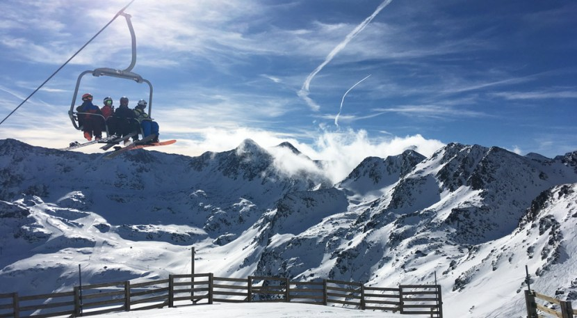 Skiers-on-a-lift