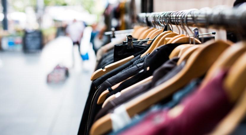 Clothes rack outside