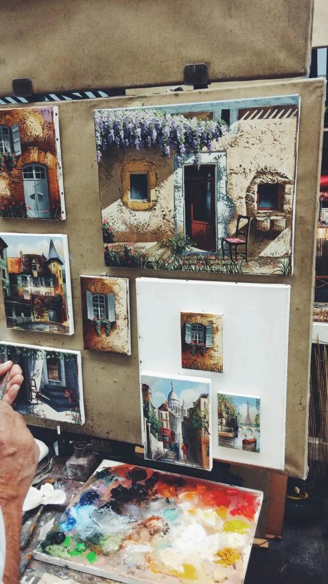 Place du Tertre Montmartre pittori