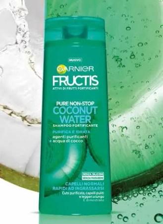 Shampoo Garnier Fructis Pure Non Stop Coconut Water