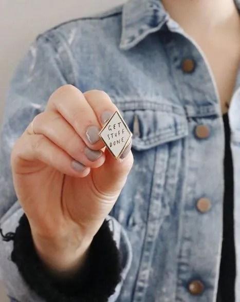 Old English Company Pin