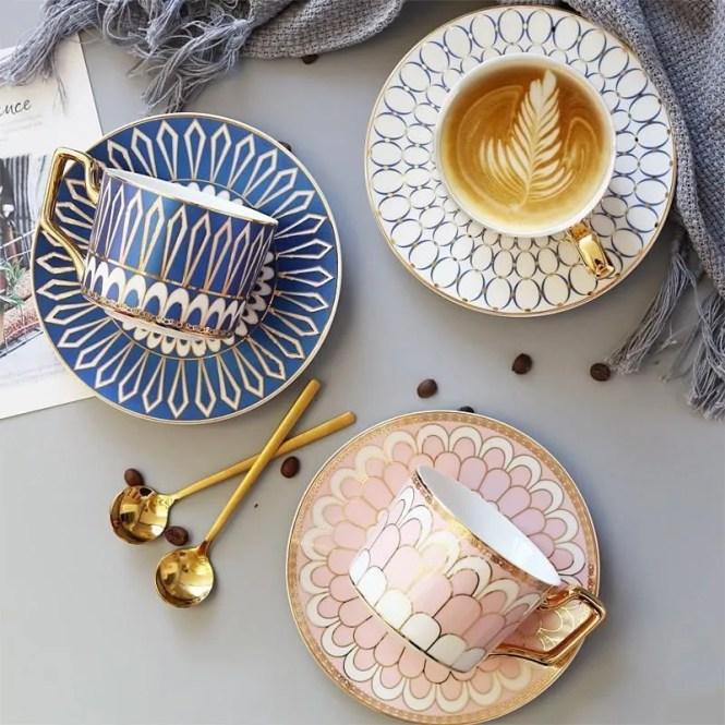 Wallencia Blue and Rose Tea Set