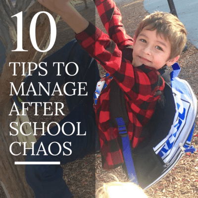 tips for after school