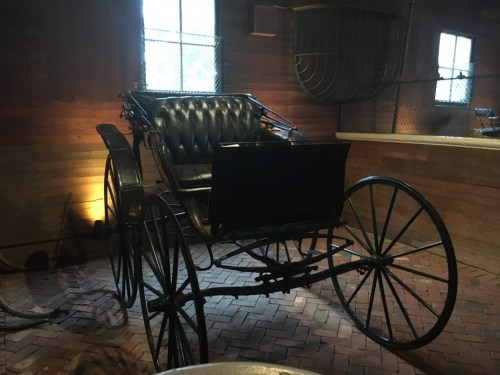 One of the many carriages on display at the Belle Meade plantation.