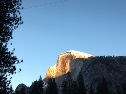Half Dome in the setting sun - Yosemite