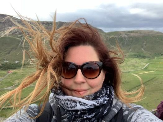 selfie - the wind in Iceland