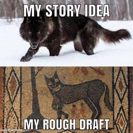 Story Idea vs draft meme