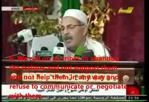 Libya protest: GADDAFI A HERO! Conference of libyan tribes  [libyasos]